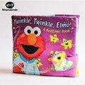 20 * 18 см мягкая игра спокойной ночи 3D стирать ткань книги для мерцают Elmo младенцев книги раннее образование многофункциональный ткань книга