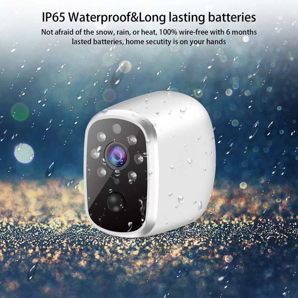 Wire-free 720p Low Power Comsunption IP Camera With Hotspot AP Connection title=