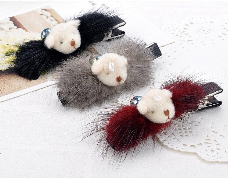 12 unids/lote corea princesa de lujo oso cinta crystal hairclip horquilla tocado
