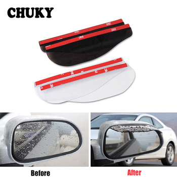 2Pcs PVC Car Sticker Back Mirror Eyebrow Rain Cover for BMW E46 E90 E60 E39 E36 F30 F10 F20 E87 E30 M Accessories X5 E53 E34 E92 image