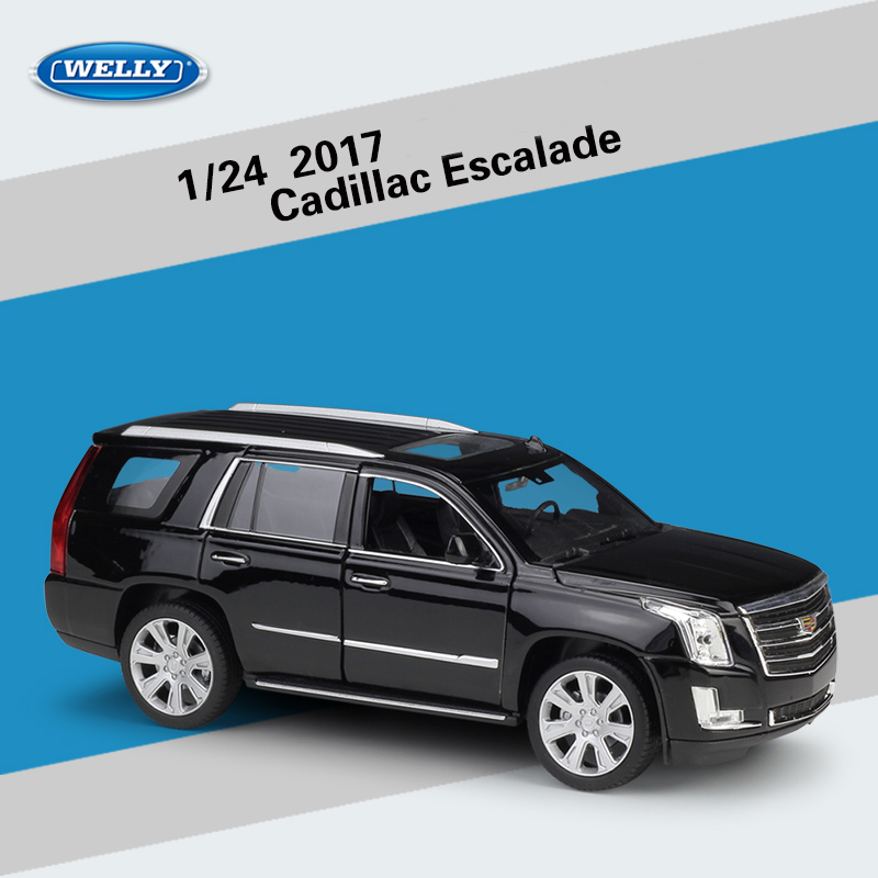 WELLY 1:24 2017 Cadillac Escalade SUV Diecast Model Metal