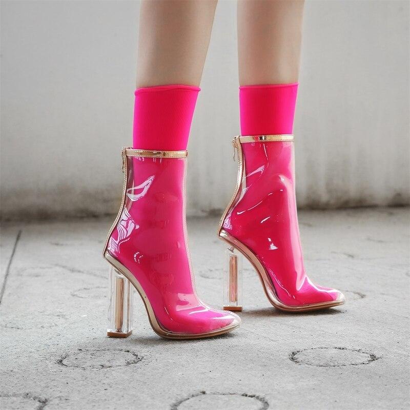 Diversión Primavera Otoño 5cm Moda 6 Heel Transparentes Ville Botas Atractivas Color Señoras Mujeres Partido 11cm De Nueva Altos 7 Heel Tacones Calidad Alta Zapatos qHXrXYRw