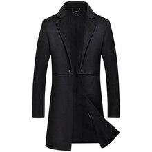 2018 Winter 100% Double Sided Wool Cashmere Overcoat Jacket Coat Men Business Casual Single Button Long Coats men's coat M-XXXL