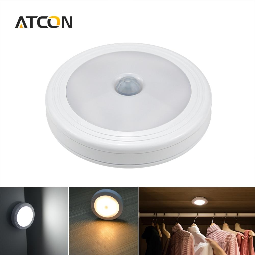 Led smart night lamp - Infrared Pir Motion Sensor Led Lamp Light Sensitive Wall Ceiling Night Lights Smart On Off