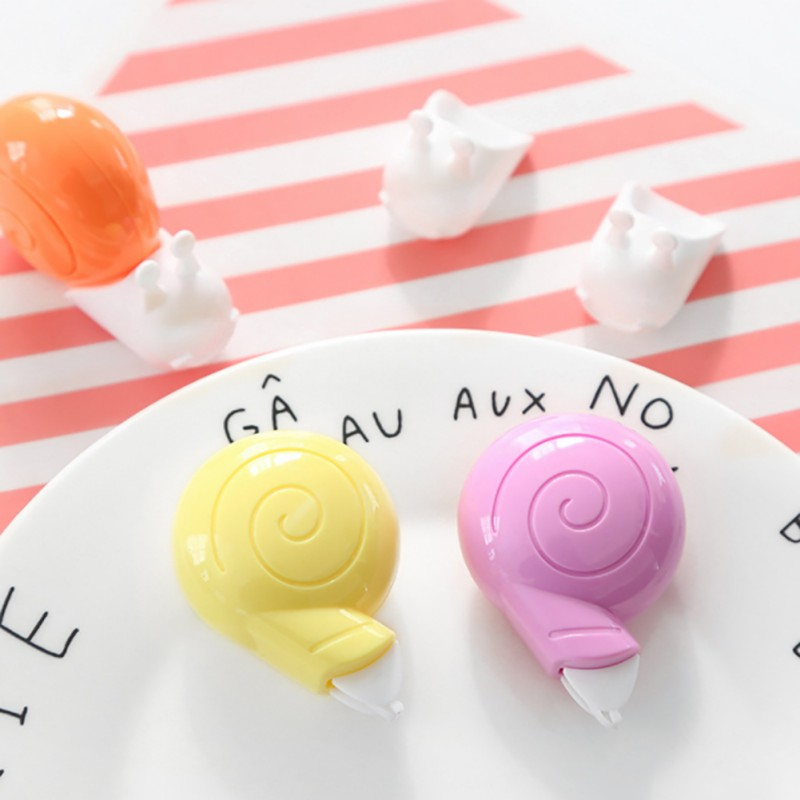 6m White Student Correction Tape Cute Animal Snails Tape Kawaii Stationery Office School Supplies  Random Color Delivery