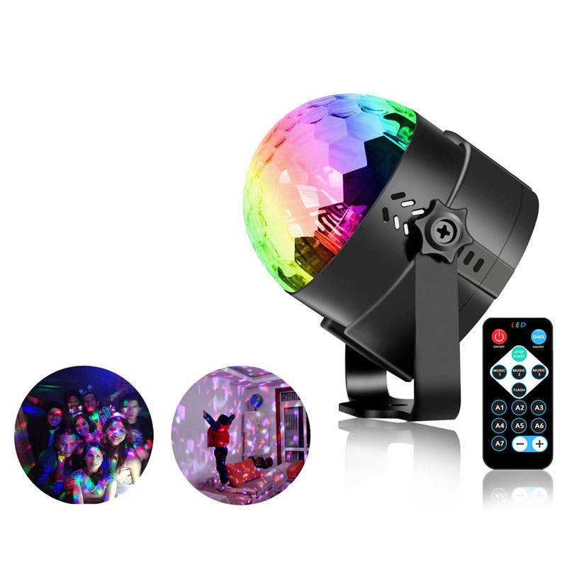 3W RGB Disco Light Par LED Stage Lighting Effect RGB DJ Rotating Disco Ball Party Lights Remote Controller Bar   Karaoke Show mini rgb led crystal magic ball stage effect lighting lamp bulb party disco club dj light show lumiere