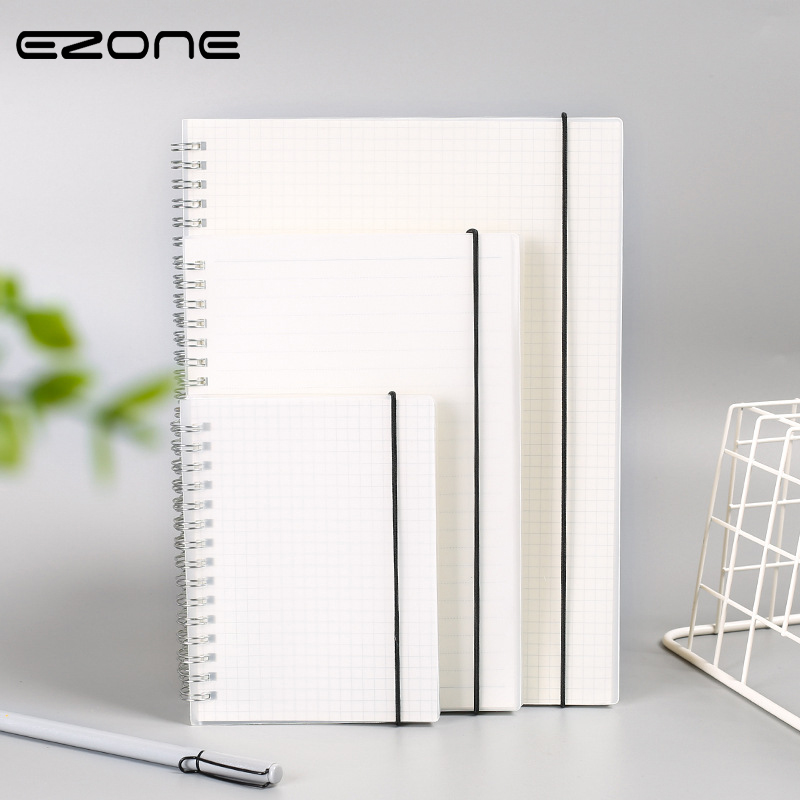 EZONE 1PC Spiral Book Coil Notebook Lined DOT Blank Grid Paper Journal Diary Sketchbook For School Office Supplies Stationery