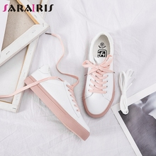 SARAIRIS 2019 Spring Autumn Big Size 35-40 Casual Dropship Women Flat Hot Sale Ladies Lace-up Platform Luxury Shoes Woman Flats
