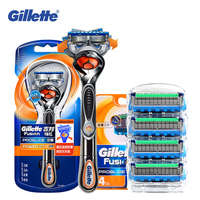 Gillette Fusion Proglide Flexball Power Razor Electric Shaving Razors Blades Safety Shave Men'S Beard Shaver 1 Holder 5 Blade