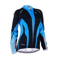 NUCKILY Winter Cycling Jacket for Women Thermal Fleece Coats Long Sleeve Breathable Full Zipper Jackets MTB Bike Cycling Jerseys