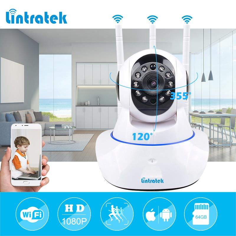 lintratek Mini CCTV WiFi Surveillance Camera IP 1080P Home Security Camera Wi Fi Two Way Audio