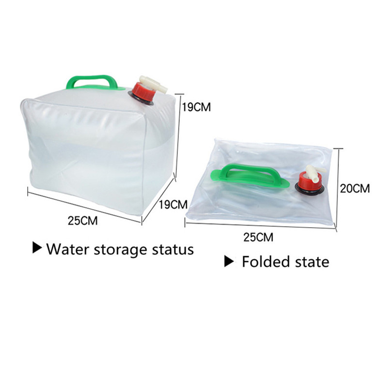 Portable water storage container Collapsible Water Carrier Bag Emergency Water Bag for Camping survival #2y15 (8)