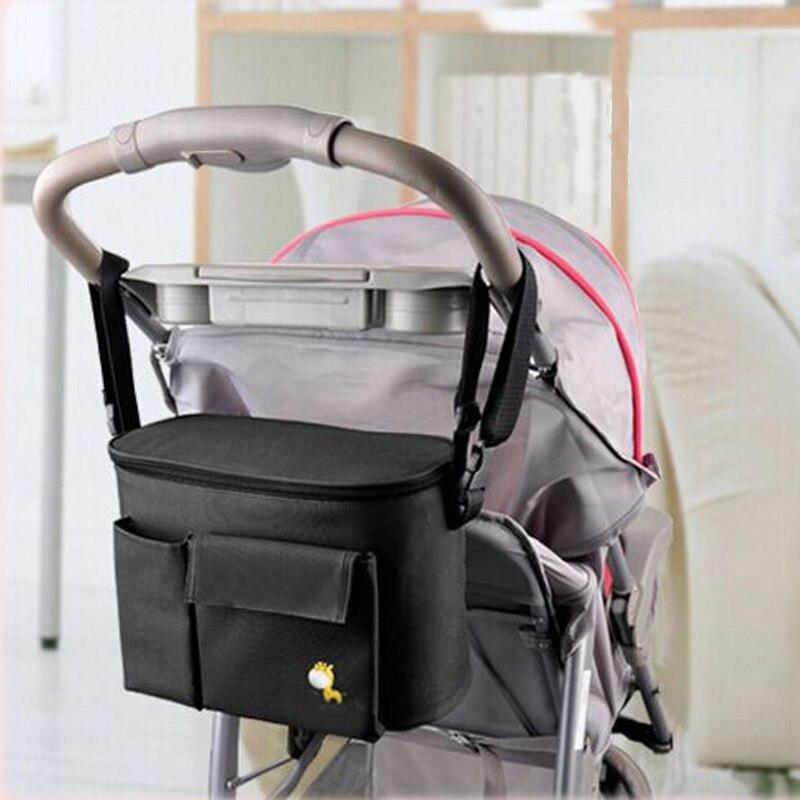Bebé cesta colgante cochecito momia cochecito viajes Nappy Bolsas agua botella de almacenamiento del pañal enfermería cochecito Accesorios
