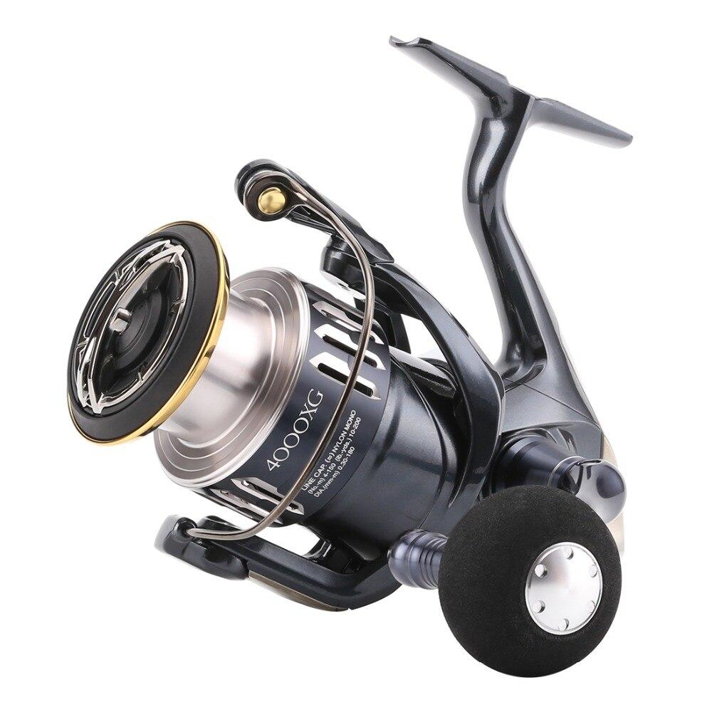 2017 New Arrival Shimano C3000XG 4000XG 9+1BB Spinning Fishing Reel Made in Japan HAGANE Body X-SHIP WaterProof Fishing Reel packaging and labeling