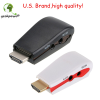HDMI To VGA Adapter Male To Female Conversion Connector 1080P For Tablet Laptop HDTV DVD 3