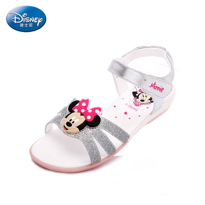 Disney kids sandals summer child Minnie toe student shoes Girl  Casual sandals  DS1991 summer children shoes child sports sandals female male child sandals black gauze sandals