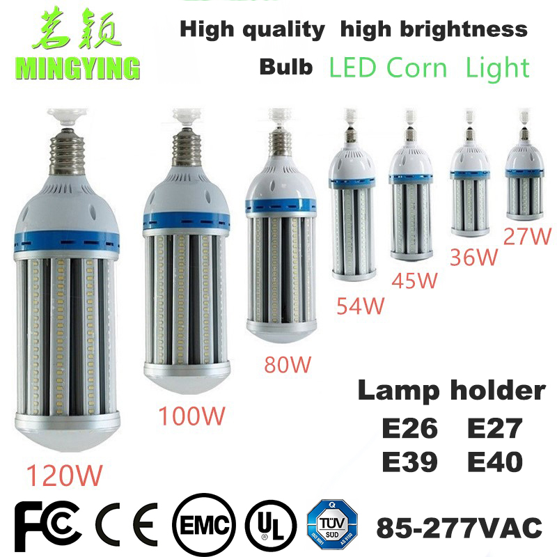 цена на 45w 54w 80w 100w 120w E40 E39 E27 Led Corn Light Bulb Lamp For Factory Warehouse Parking Lot Lighting Street Lamp With CE FCC