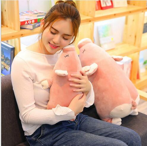 WYZHY Peach Pig Doll Pillow Plush Toy Sofa Decoration Send Friends and Children Gifts 60CM
