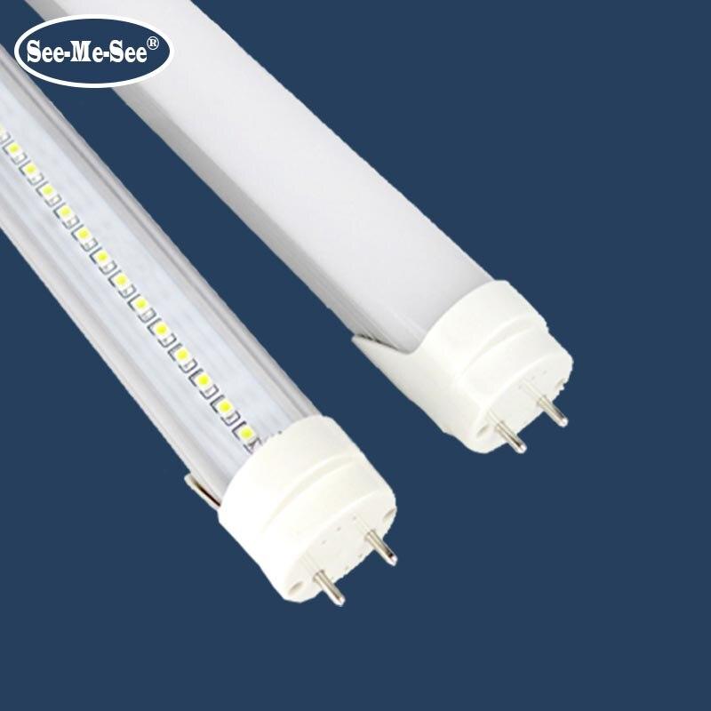 10 PCS/Lot 4ft 5ft 1200 MM 1500 MM 20 W 24 W 28 W AC85-265V haute luminosité haute luminosité t8 led tube