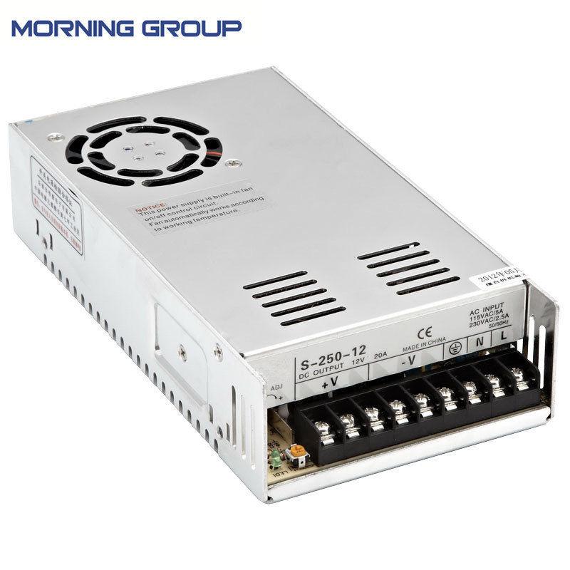 S-250 Cooling fan 250W energy-saving single switching power supply 12V 24V 36V 48V s 250 24 24v 10 4a energy saving dc power supply switching 250w