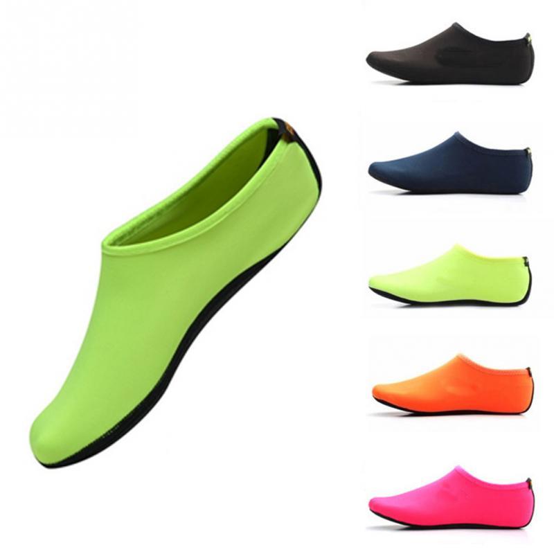 Durable Sole Barefoot Water Skin Shoes Men Women Aqua shoes Anti Slip Beach Shoes Swimming Yoga Water Sport Aerobics Sock Shoes