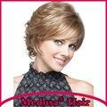 Медуза продукты волос: термостойкие Синтетические пастельные парики для женщин Короткие вьющиеся Mix цвет боб стиль парик с челкой SW0048B