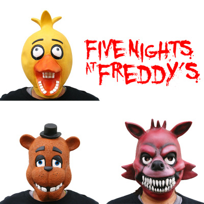Five Nights at Freddy's Mask Cosplay Halloween Horror Latex Latex Mask Costume Crazy Party Cool Play Prop Drop Ship