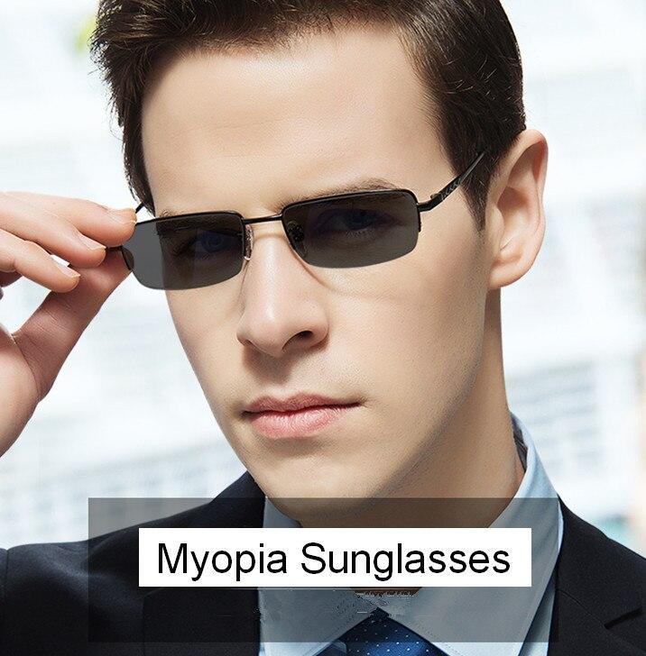 Herren-brillen Eyesilove Männer Metall Myopie Gläser Grad Linsen Sonnenbrille Grau Verschreibungspflichtigen Brillen-0,50-1,00-6,00 Für Freies Verschiffen