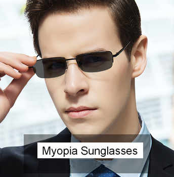 Eyesilove men\'s metal myopia glasses degree lenses sun glasses grey prescription eyewear -0.50 -1.00 to -6.00 for free shipping - DISCOUNT ITEM  15% OFF Apparel Accessories