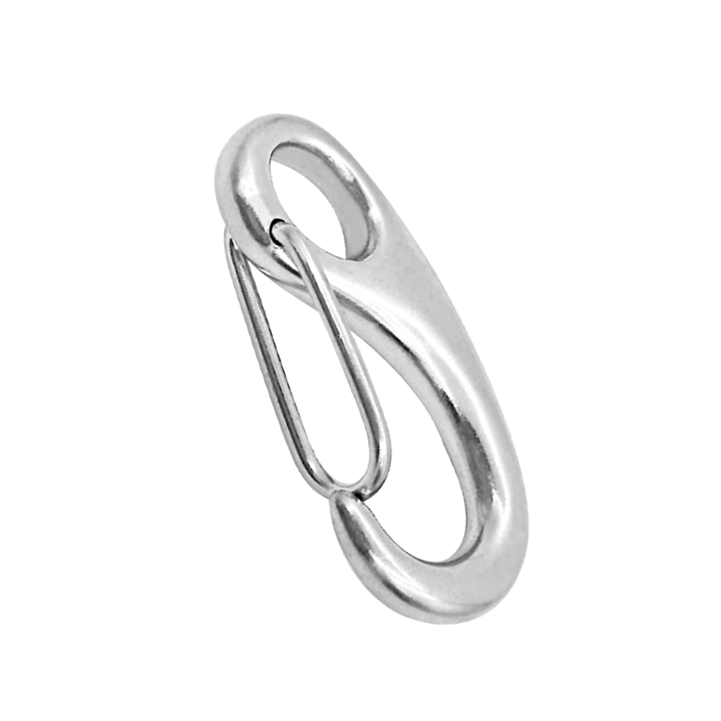 Image 3 - 2 Inch Silver Spring Snap Hook Stainless Steel Clip Keychain Portable Hook Durable Multifunctional Marine Hardware 50 x 18 mm-in Marine Hardware from Automobiles & Motorcycles