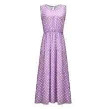 New Design Fashion Summer Doka Dot Women Casual Dress With Button