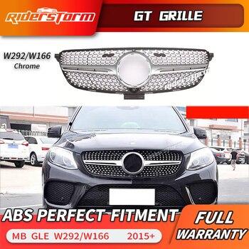 Para GLE Classe W166 w292 Diamante 4 Matic Frente Grill Grelha para Mercedes Benz GLE300 GLE320 GLE350 diamante grade