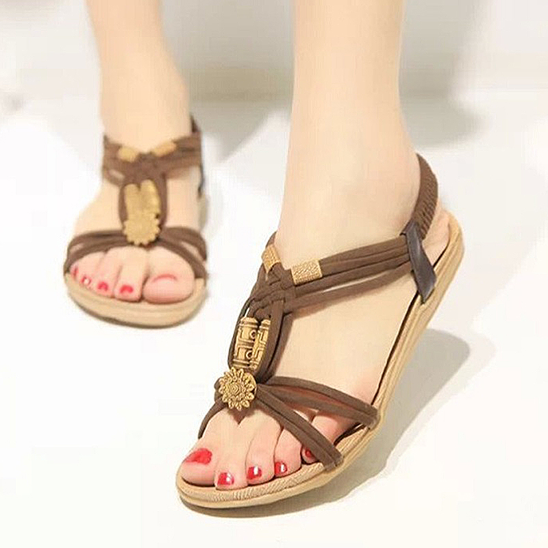 2018 New Summer Shoes Women Sandals Comfy Fashion Casual Flats Sandals For Woman European Rome Style Sandalias runail кисть gel gmf 6