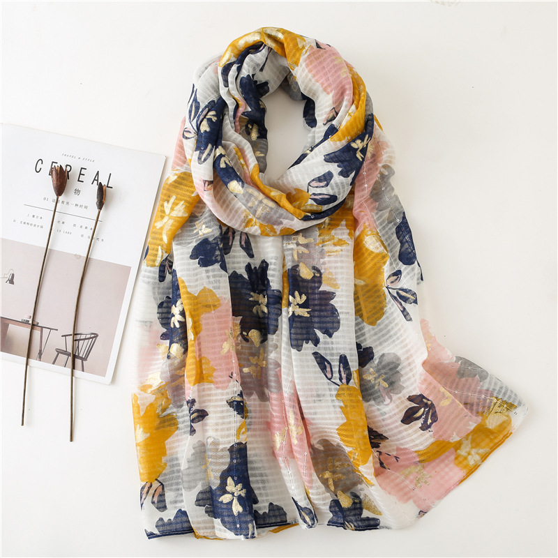New Design Ladies Spain Fashion Retro Floral Tassel Viscose Shawl Scarf Winter Muffler Headband Foulard Sjaal Wrap Hijab Snood
