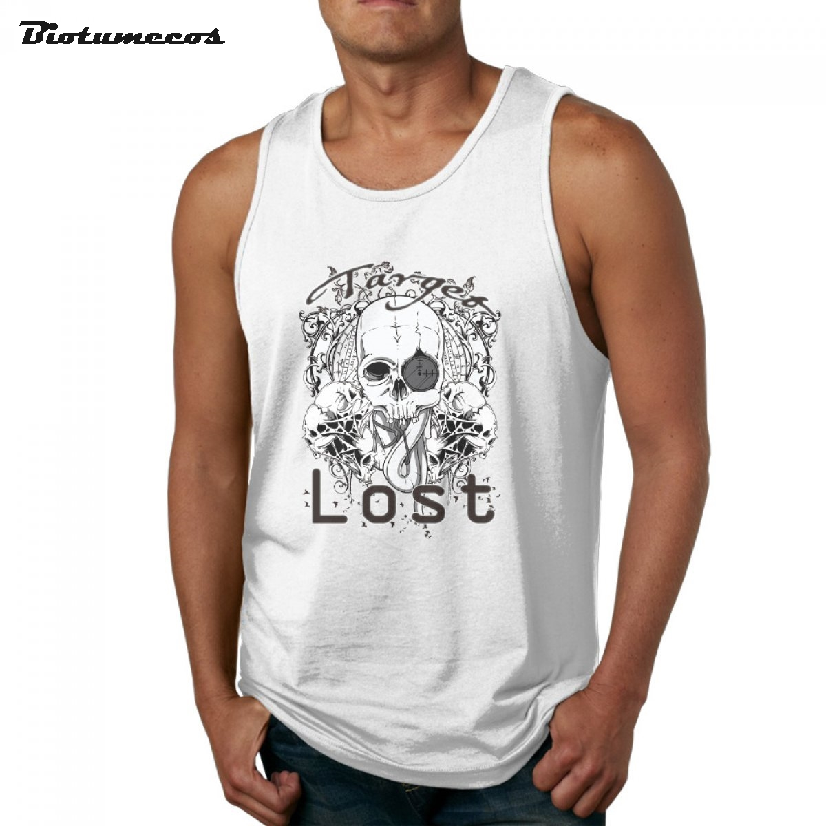 New Fashion Men Tank Tops Summer Target Lost Printed Male Retro Style Casual Vest MBXKL017