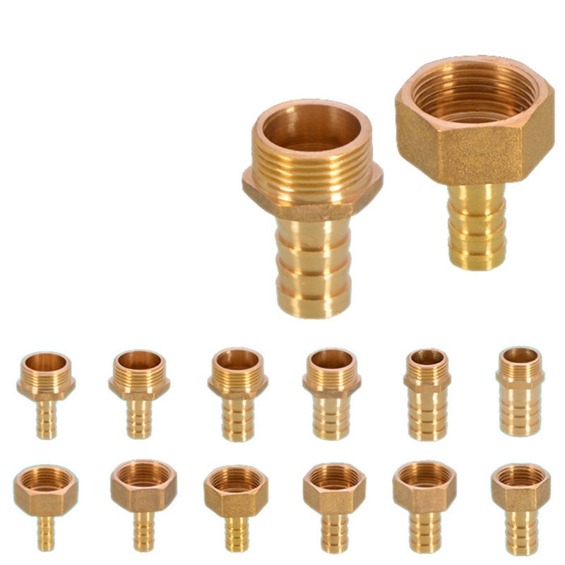 1/2  Brass Pipe Fitting Trachea Connection Adapte Copper Coupler Pneumatic Components Plumbing Accessories