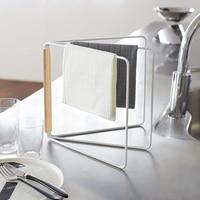 Creation Core Kitchen Storage Shelves Organizer Wood Dish Rag Drying Rack Towel Foldable