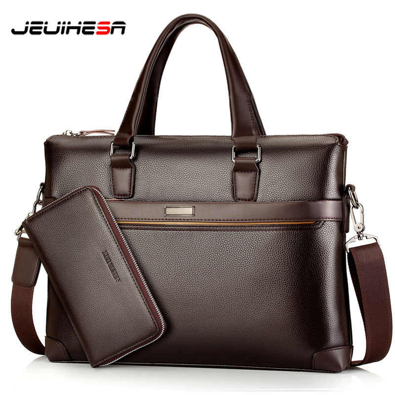 d59eba28e425 Новое поступление 2019 винтажная Мужская сумка портфель компьютер ноутбук  Повседневная сумка через плечо деловые сумки-