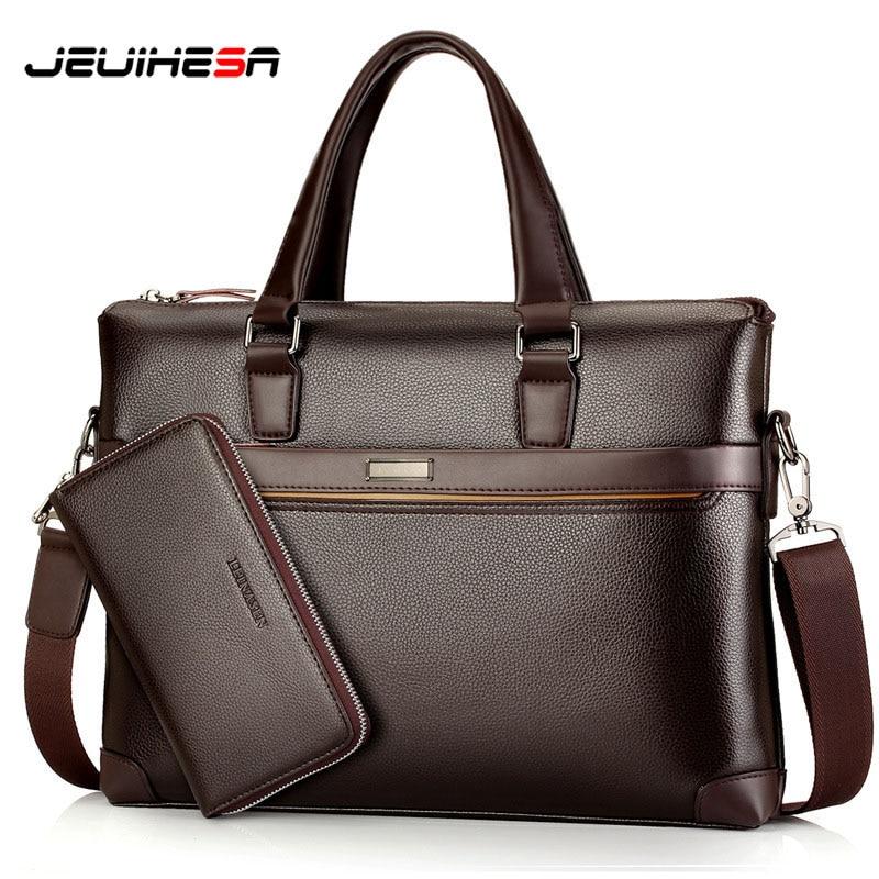 New Arrival 2019 Vintage Men Handbag Briefcase Computer Laptop Casual Shoulder Bag Business Messenger Bags Men'S Travel Bags