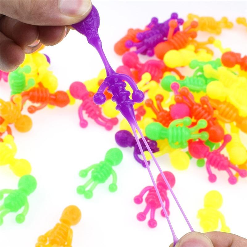 20PC/Random 4cm Squishy Pull Skull Model Human Funny Pressure Wreak Reduce Anti-Stress Toy