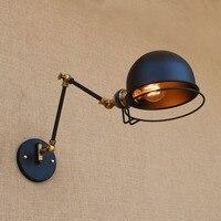 Iwhd retro loft industrial luz de parede edison ajustável braço longo lâmpada arandela led aplique murale wandlamp