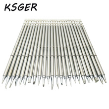 KSGER T12 Soldering Solder Iron Tips T12 Series Iron Tip For Hakko FX951 STC AND STM32 OLED Soldering Station(China)