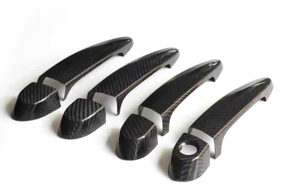 8pcs/set Carbon fiber car styling Side Door Handle Cover Trim with led hole for BMW M3 F80 09-14