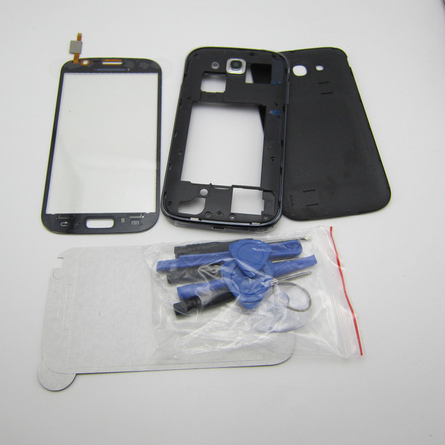 Parte de Reparo Do Telefone móvel Para Samsung Galaxy Grande Duos GT-i9082 Meio moldura + Habitação Tampa Traseira + vidro da tela de toque & tool