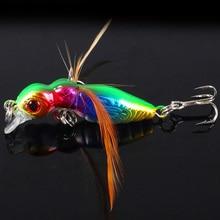 1pcs Richiamo di Pesca Burro Fly Insetti Vari Stile Salmone Mosche Trout Singolo Dry Fly Esche Da Pesca 4.5cm 3.6g Attrezzatura Da Pesca