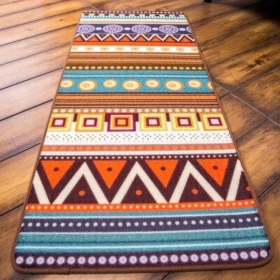 Nouveauté porte tapis tapis porche Patio étage décor salon tapis tapis indien géométrique aztèque motif 50x120 cm