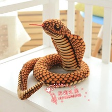 new simulation plush snake toy  golden snake doll gift about 130cm 449