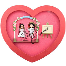 One Piece Anime Luffy & Boa Hancock Love Forever in Heart-Shaped Box Figure Free Shipping