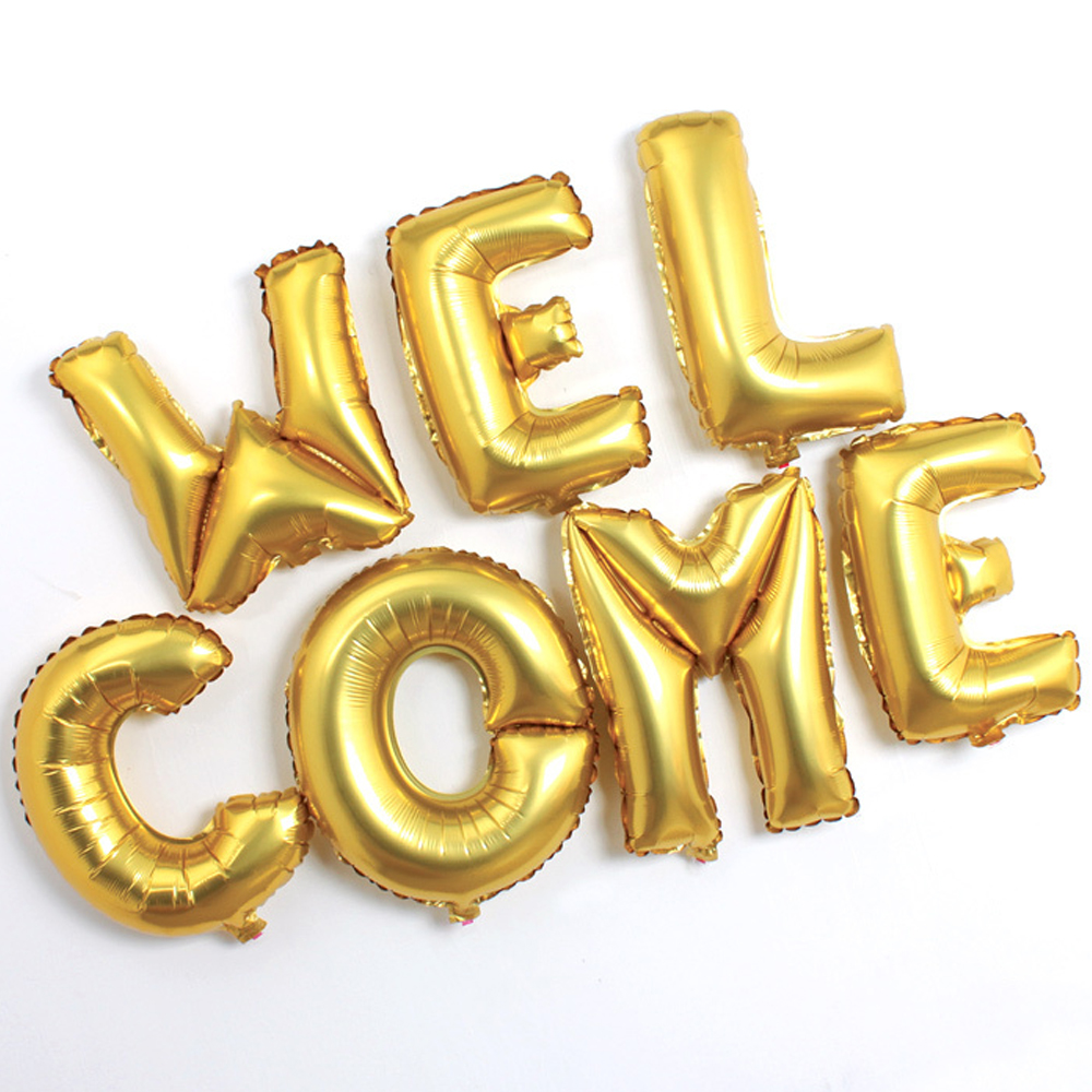 gold letter balloons 2018 real helium gold alphabet letter welcome 21960 | 2018 Real Sale Helium Gold Alphabet Letter Welcome Balloons Aluminum Foil Birthday Party Wedding Decor Christmas