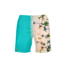 VEEVAN Men Board Shorts Sea Coast 3D Printing Beach Pants Casual Surfing Quick-dry